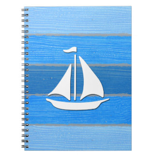 Nautical themed design notebooks
