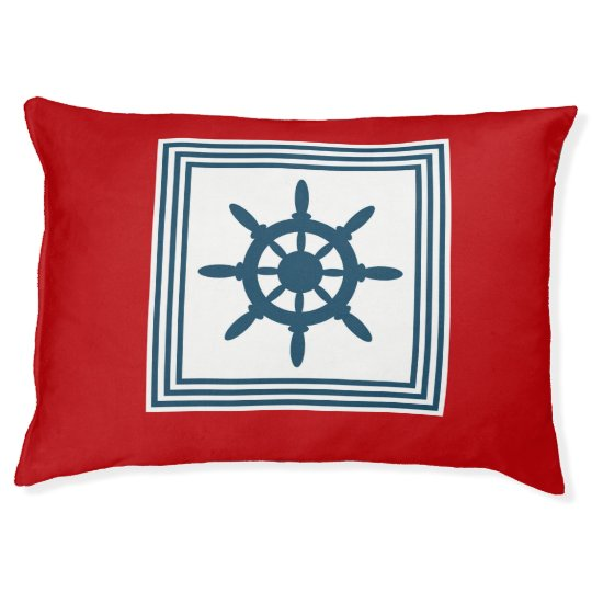 Nautical themed design pet bed