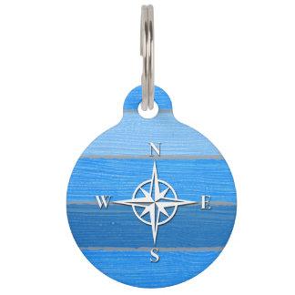 Nautical themed design pet name tags