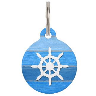 Nautical themed design pet nametags