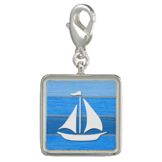 Nautical themed design photo charms