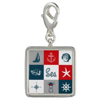 Nautical themed design photo charms