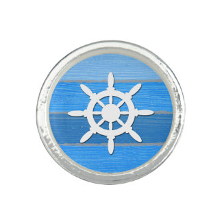 Nautical themed design photo ring