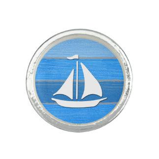 Nautical themed design photo rings