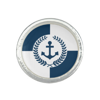 Nautical themed design ring