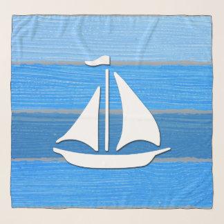 Nautical themed design scarf