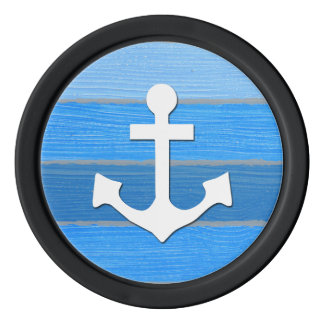 Nautical themed design set of poker chips