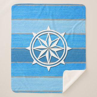 Nautical themed design sherpa blanket