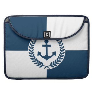 Nautical themed design sleeve for MacBook pro