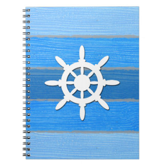 Nautical themed design spiral note books