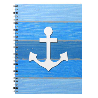 Nautical themed design spiral notebooks