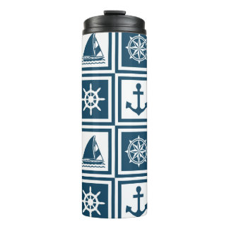 Nautical themed design thermal tumbler