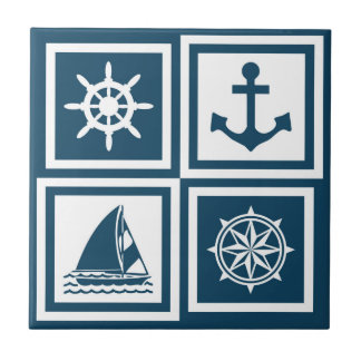 Nautical themed design tile