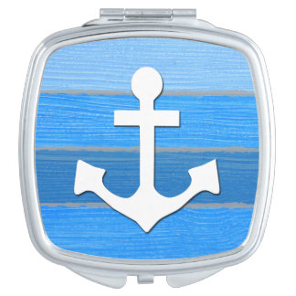 Nautical themed design travel mirror