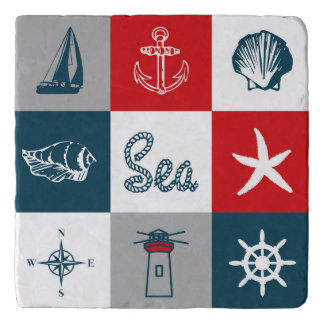 Nautical themed design trivet