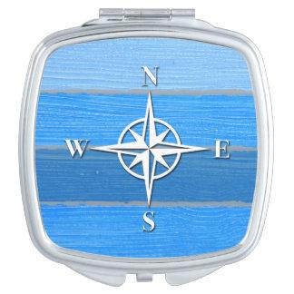 Nautical themed design vanity mirror