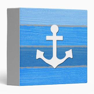 Nautical themed design vinyl binders