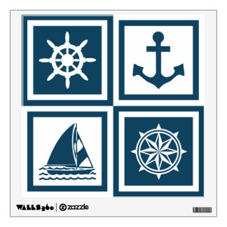 Nautical themed design wall sticker
