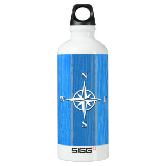 Nautical themed design water bottle