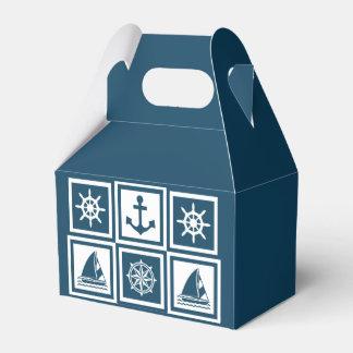 Nautical themed design wedding favor boxes