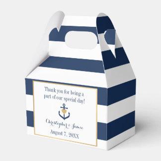 Nautical themed Favor Boxes - Anchor Design