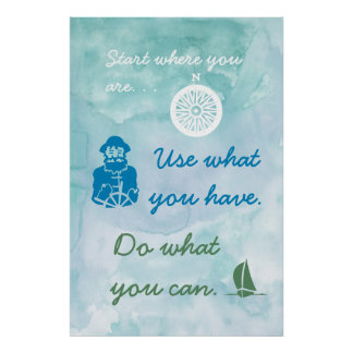 Nautical Themed Motivation Poster