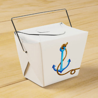 Nautical Turquoise Ship Anchor Wedding Party Wedding Favor Box