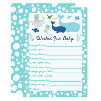 Nautical Under The Sea Baby Shower Card