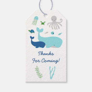 Nautical Under The Sea Baby Shower Pack Of Gift Tags