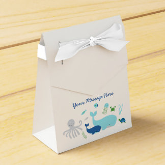 Nautical Under The Sea Baby Shower Party Favor Box