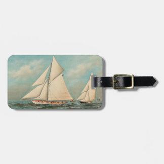 Nautical Vintage Yachts Racing #1 Luggage Tag