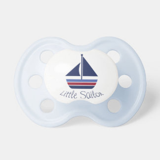 Nautical Wave Little Sailor Baby Sailboat Pacifier