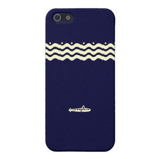 Nautical Wave Navy Submarine iPhone Case iPhone 5 Covers