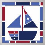 Nautical Wave Nursery Poster