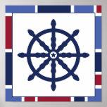 Nautical Wave Nursery Wheel Poster