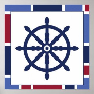 Nautical Wave Nursery Wheel Print