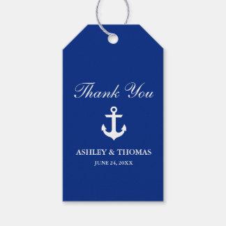 Nautical Wedding Anchor Blue Gift Tags