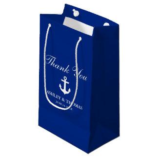 Nautical Wedding Anchor Blue Small Gift Bag