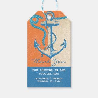 Nautical Wedding Anchor Favor Tags