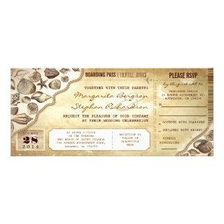 nautical wedding boarding pass tickets invitations