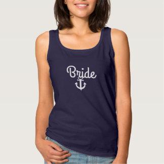 Nautical Wedding Bride Tee with Anchor