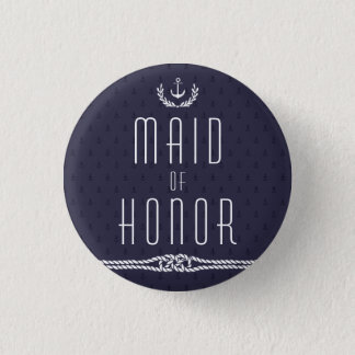 Nautical Wedding Buttons Maid Of Honor