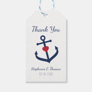 Nautical Wedding Favor Tags -   Navy Blue Anchor