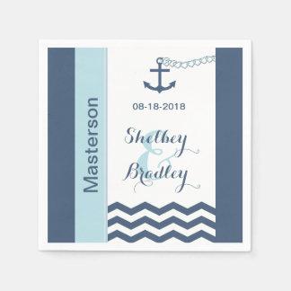 Nautical Wedding Paper Napkins