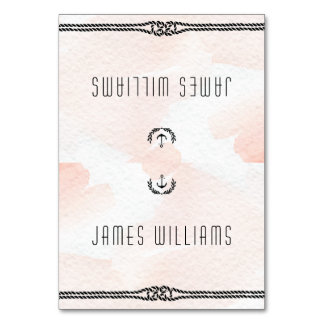 Nautical Wedding Place Cards Watercolor Peach