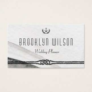 Nautical Wedding Planner Business Cards Gray White