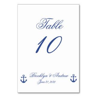 Nautical Wedding Table Cards