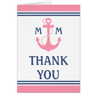 Nautical Wedding Thank You Note Card