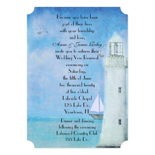 Nautical Wedding Vow Renewal Card