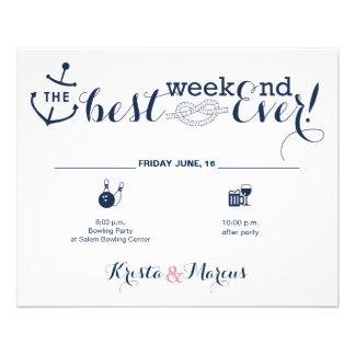 Nautical Wedding Weekend Itinerary 2 Flyer
